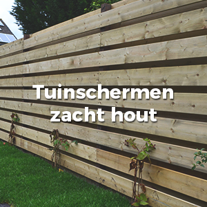 Tuinschermen zachthout